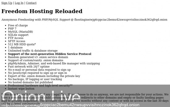 Freedom Hosting Reloaded