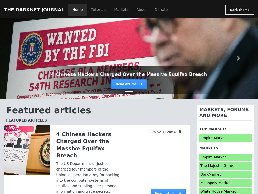 The Darknet Journal